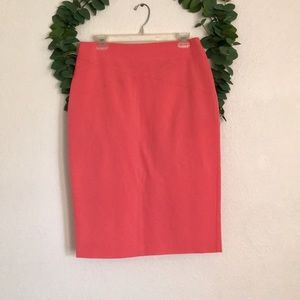 7th Avenue New York & Co Coral Pencil Skirt